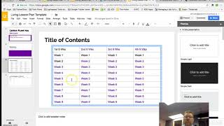 How to build a Living Lesson Plan Document - Part 2