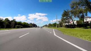 Drive Route 60 West: 27th Ave to 108th Ave, Vero Beach, Florida