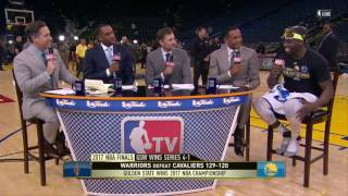 Draymond Green Joins GameTime - Game 5 | Cavaliers vs Warriors | June 12, 2017 | NBA Finals