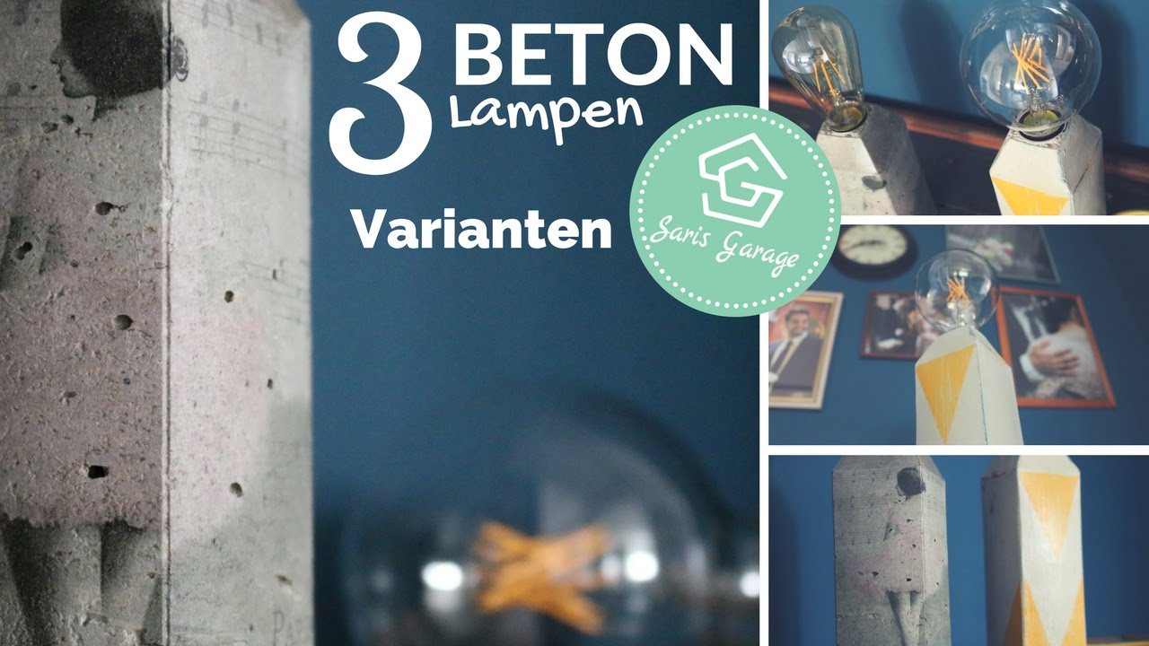 betonlampe selber machen serviettentechnik beton lampe lampe aus beton diy lampen how to. Black Bedroom Furniture Sets. Home Design Ideas