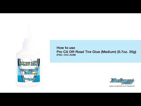 How to use CHC-AOM Pro CA Off-Road Tire Glue (Medium) (0.7oz. 20g)