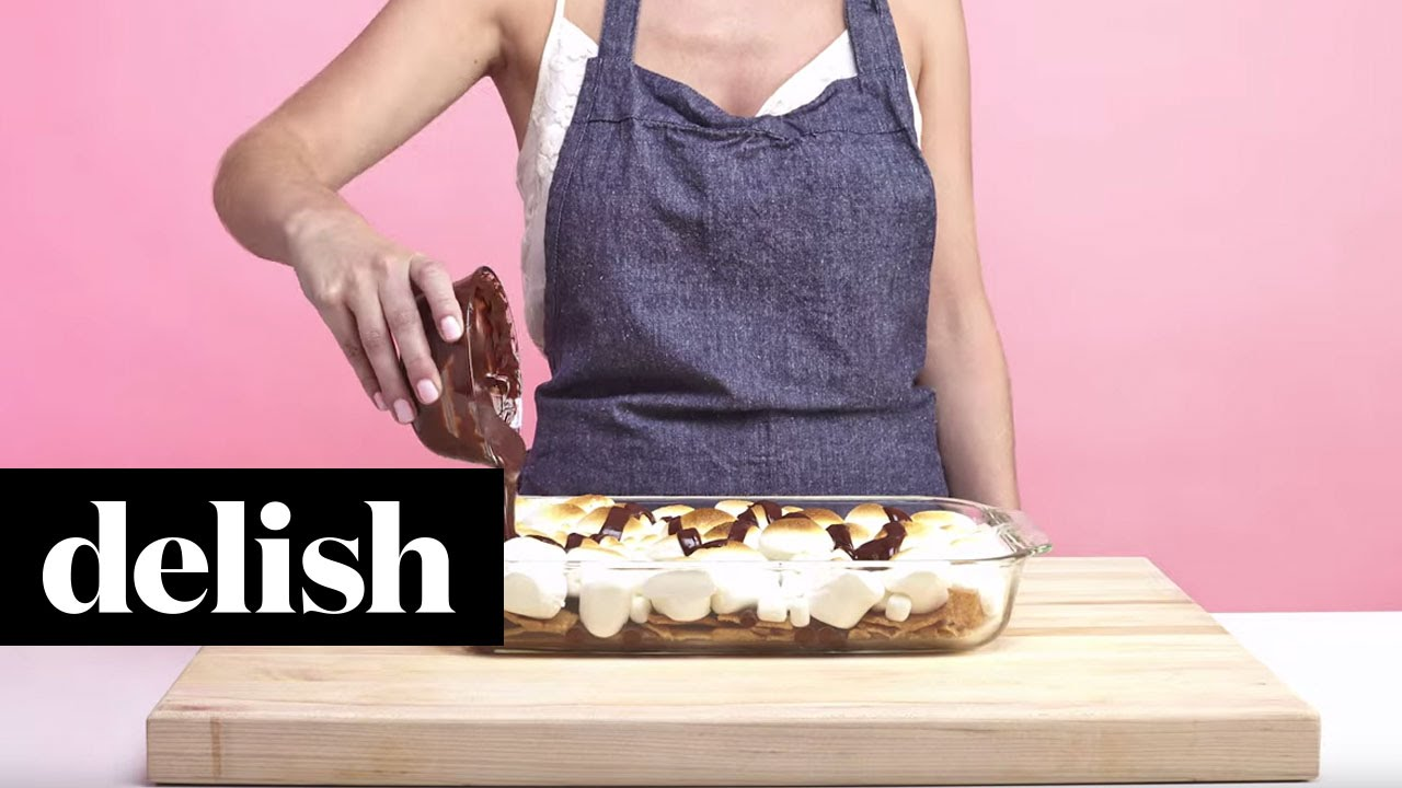 How to Make S'mores Nachos | Delish - YouTube