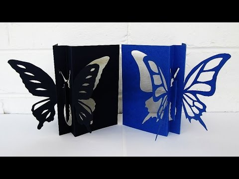 Papercraft Butterfly card - learn how to make this butterfly paper craft from a template - EzyCraft