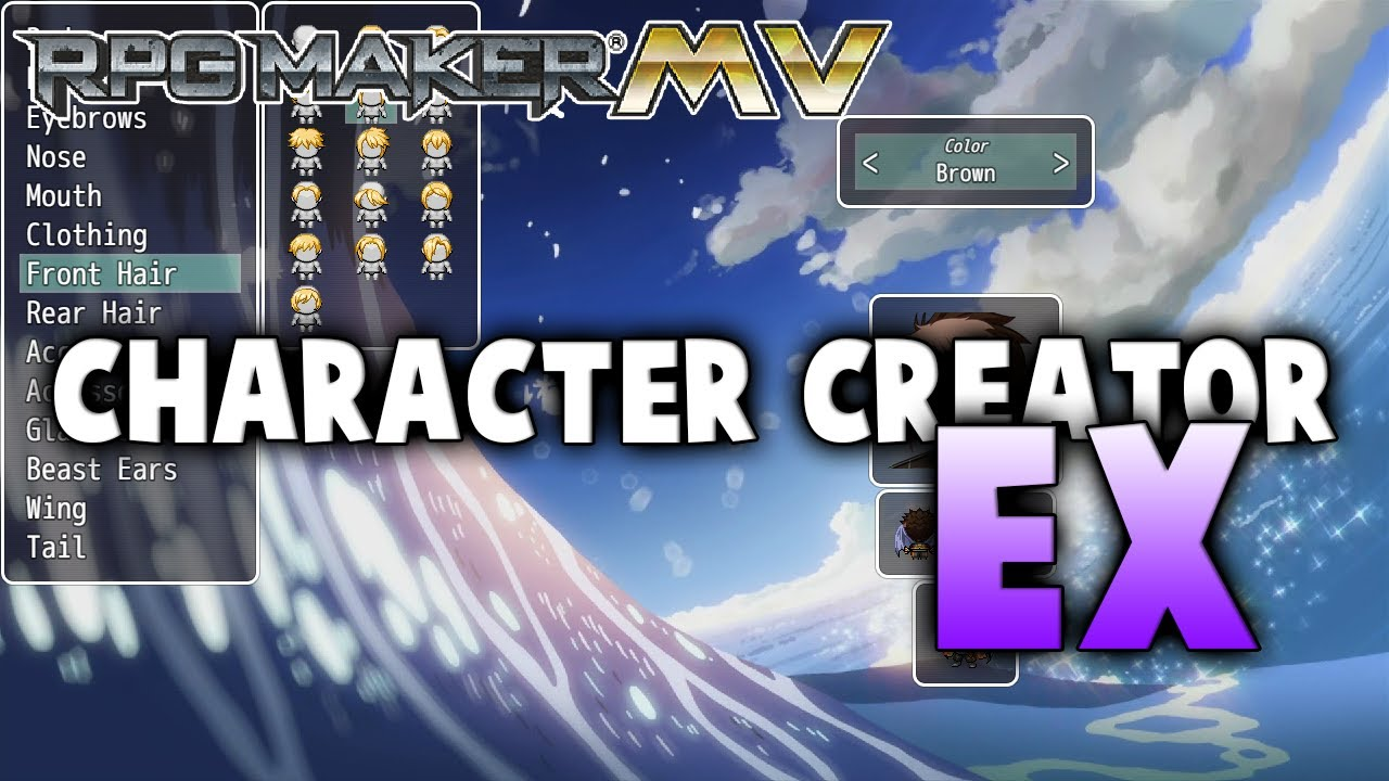 Character Creator EX – MV Plugin – RPG Maker MV Plugins
