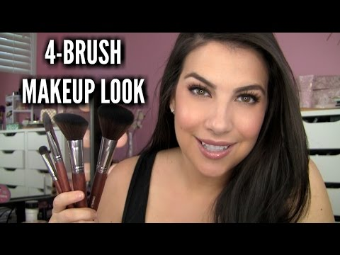 4-BRUSH MAKEUP ROUTINE | Review/Tutorial