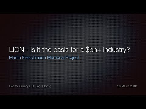 LION - is it the basis for a billion dollar + industry