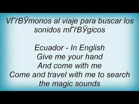 Sash - Ecuador Lyrics
