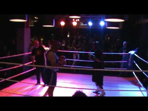 Len Lavas verses Mark Faga Boxfit Gym Sparring Eve...