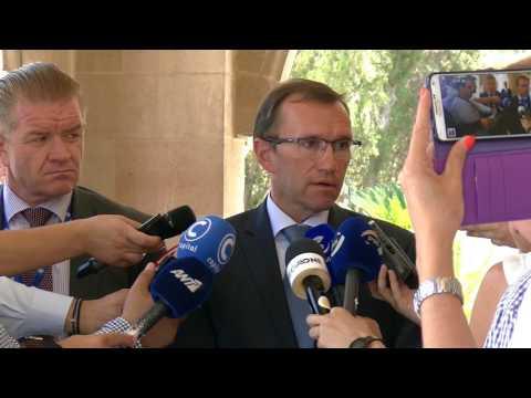 SASG Eide addresses the media following a meeting with Mr. Nicos Anastasiades (24/07/2017)