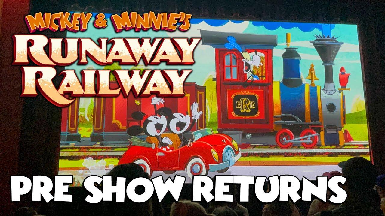 Pre-Show Returns to Mickey & Minnie's Runaway Railway - Disney's Hollywood Studios