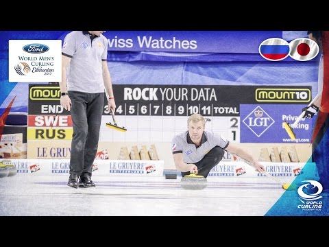 Russia v Japan - Round-robin - Ford World Men's Curling Championship 2017