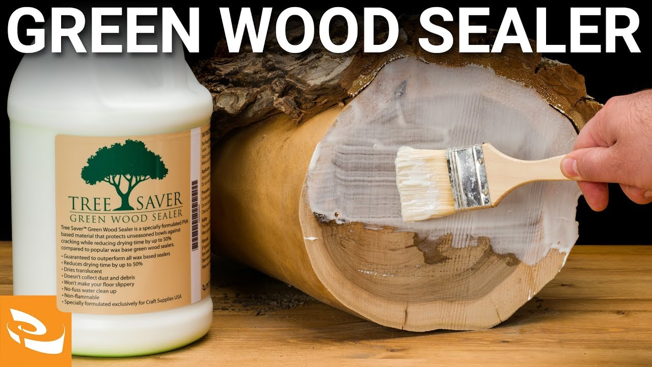 Tree Saver Green Wood Sealer Woodturning How To Youtube