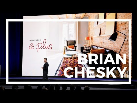 Keynote: Airbnb's Brian Chesky on-stage at company's 10th birthday ...