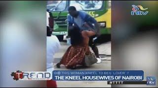 Viral video: Woman kneels to beg lover in Nairobi CBD?