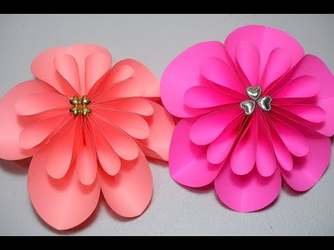 How to Make DIY Paper Flowers Easy with Heart Shaped Beads