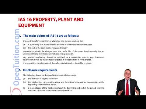 IAS 16 Property, Plant And Equipment- ACCA Financial Accounting (FA) Lectures