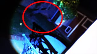 GHOST CAUGHT IN BACKYARD!
