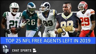 Top 25 NFL Free Agents Left In 2019