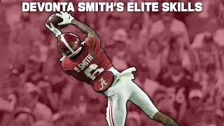 Devonta Smith has a very Particular Set of Skills, Skills that Make him a Nightmare for a Defense