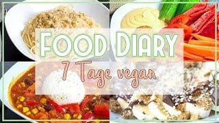 🍲 Das alles esse ich in 7 Tagen! - VEGAN FOOD DIARY - einfach & schnell + Rezepte zum Ausdrucken🌱
