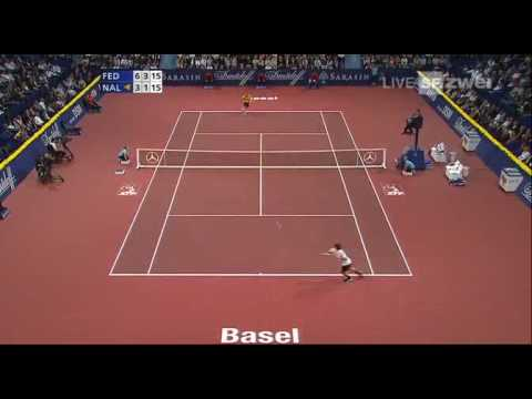 Basel 08 Final Federer vs Nalbandian (Highlights)