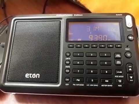 Radio Tailandia 9390 Khz Eton Grundig Satellit Edition desde Mendoza (ARG)