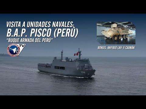 B.A.P. PISCO (Buque de la Armada del Perú) con Anfibios LAV II en EXPONAVAL 2018