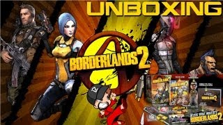 Unboxing Borderlands 2 Deluxe Vault Hunters Collectors Edition