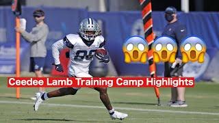 Ceedee Lamb Training Camp Highlights