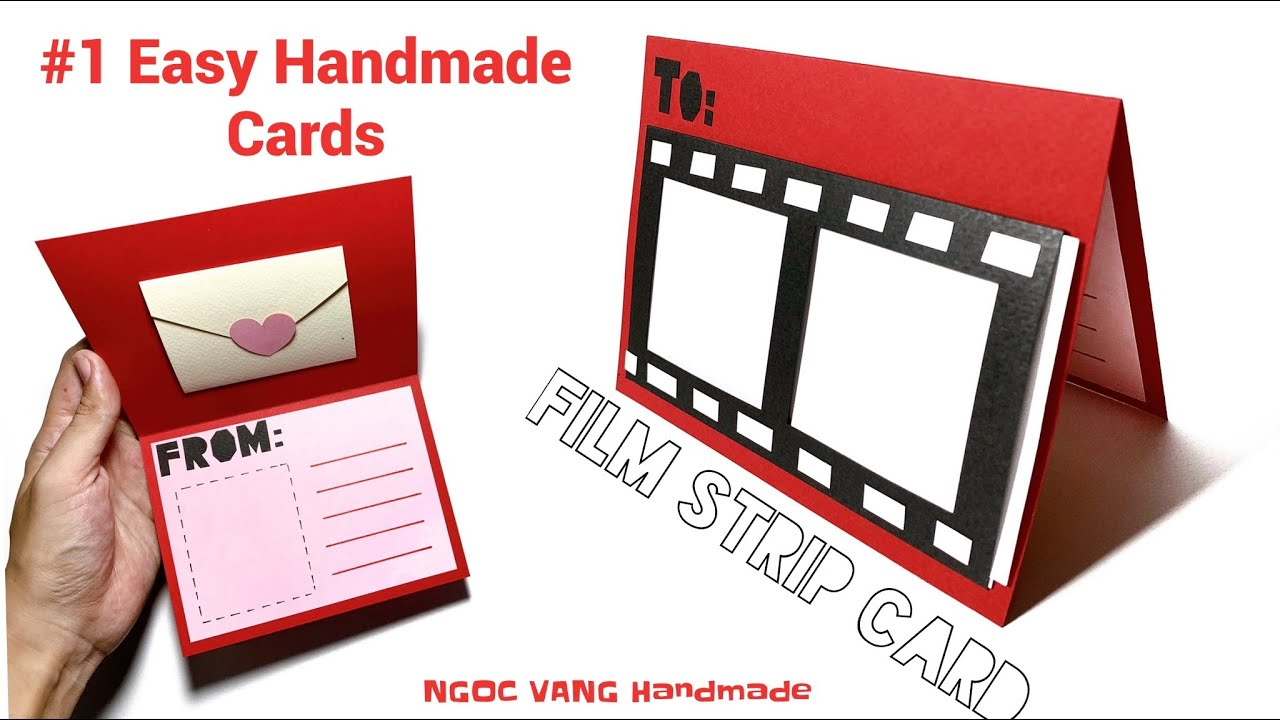 1 easy handmade cards  thiệp dải phim film strip card