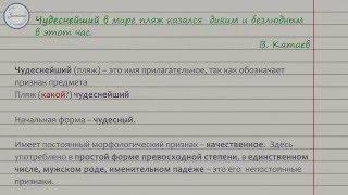 Морфологический разбор прилагательного | uchim.org
