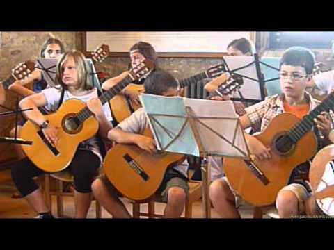 """Chamber Music # 17 """"Party Drums"""" performed by kids ensemble. Classical Guitar Pedagogy"""