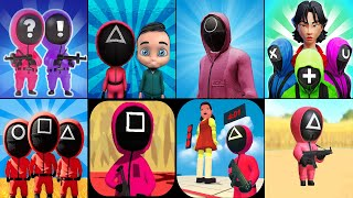 456 Challenge Game,Squid Game Survival Challenge 3D Dalgona Candy,Squid Game Red Green Light