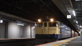 速報!! 5086レ EF65-2101 国鉄特急色@おおさか東線・JR淡路駅