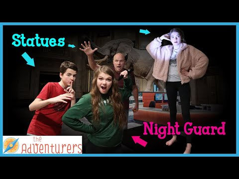 Night Guard At The Museum Statues I That YouTub3 Family The Adventurers