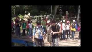 Campamento Ara macao. Camping Ara macao, colegio Marie Curie en Montecristo Rio San Juan.