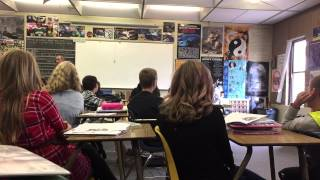 Teacher Dives out of Window!