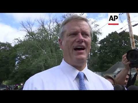 Massachusetts governor tours site of deadly gas explosion