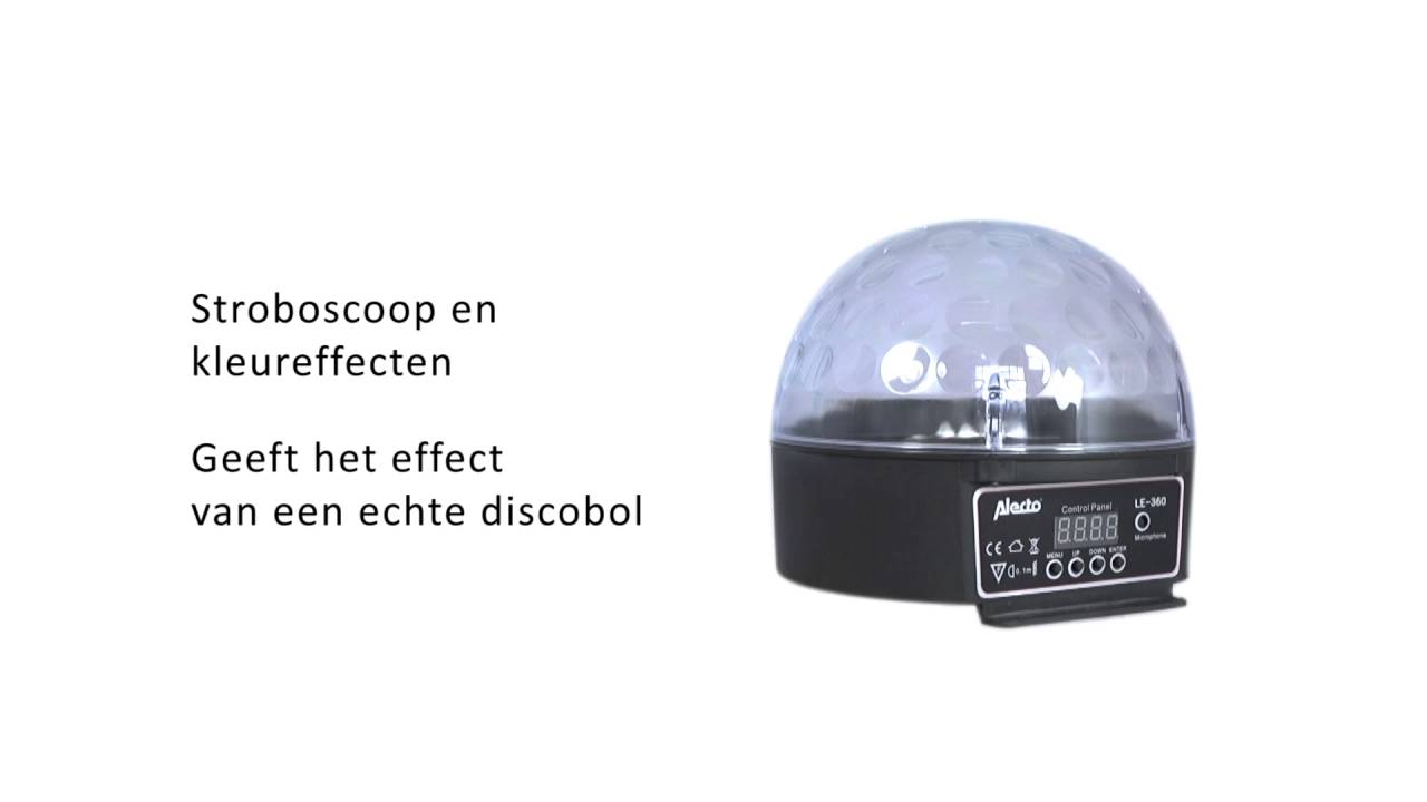 Alecto LE 360 LED Disco lamp - YouTube
