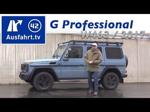 2017 Mercedes-Benz G 350d Professional W463  Fahrbericht Der Probefahrt  Test   Review