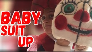 - Baby cosplay suit up
