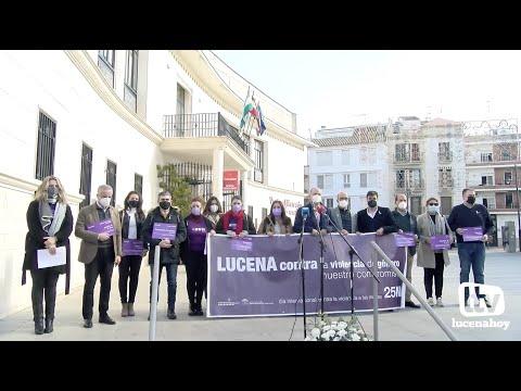 """VÍDEO: Reportaje sobre los actos del 25N """"Día Internacional contra la Violencia de Género"""" en Lucena"""