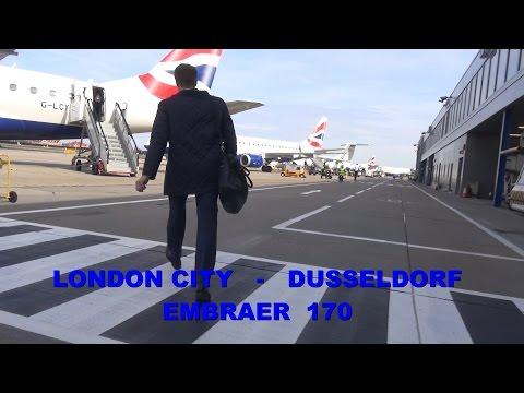 British Airways : London City - Dusseldorf Embraer 170 - March 2017