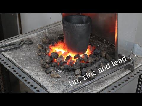 Smelting stuff -  Preparing a crucible
