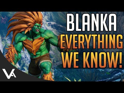 SFV - New Blanka Details! Gameplay & Move List For Street Fighter 5 Arcade Edition