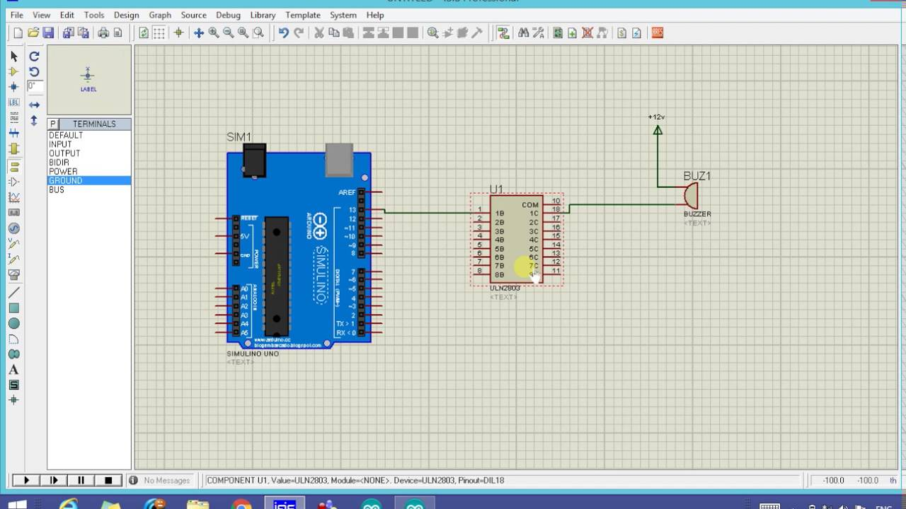 How To Simulate Buzzer With Arduino In Proteus Simulation Siren Simulator Wiring Diagram Schematic And
