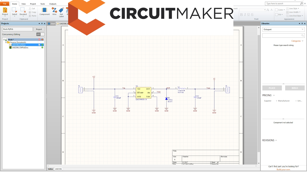 hight resolution of circuitmaker tutorial schematic youtube circuit schematic maker free circuit schematics maker