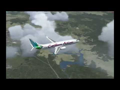 FSX:SE| VC Bird Int. Airport/Antiqua & Barbuda| Boeing 737-800NGX-Caribbean Airlines