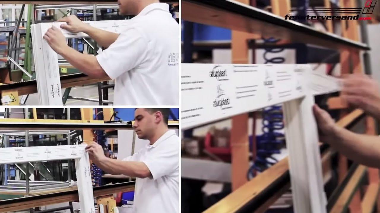 Montage eines rollladen auf ein fenster fensterversand for Kunststofffenster mit rolladen