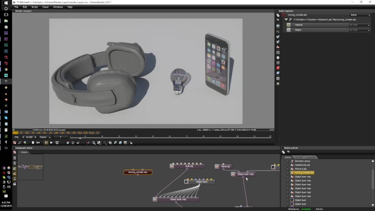 Octane render tutorial series.